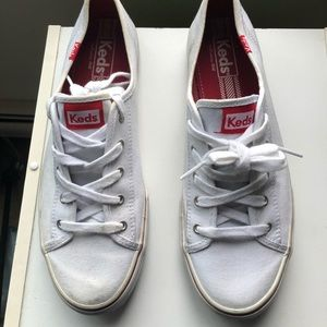White and Red Keds